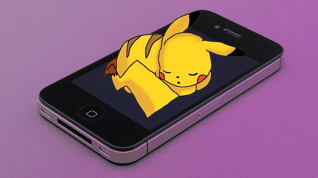 Pokemon Go iPhone 4s can't start pikachu sleeping