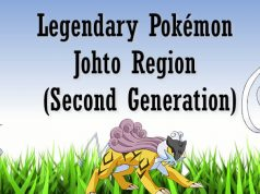 Legendary Pokémon Johto Region (Second Generation)