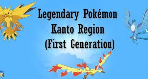 Legendary Pokémon Kanto Region (First Generation)