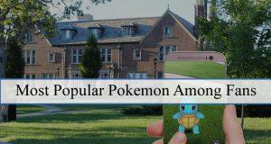 Most Popular Pokémon Among Fans